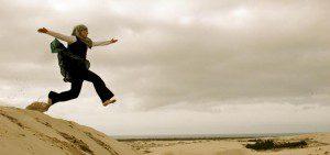 Jaye Starr Dune Jumping