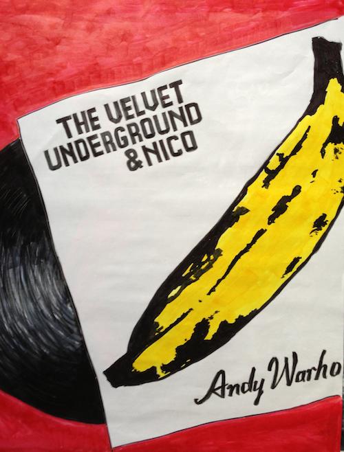Brad Heckman drawing - the Velvet Underground and Nico